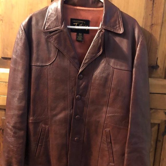 Perfect Maroon Glove Leather Car Coat~Jeffrey 44